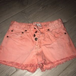 Jean shorts with fringe